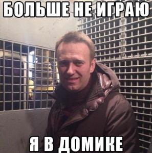 Навальный в домике