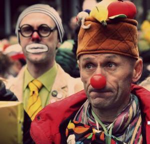 Грустные клоуны в Одессе